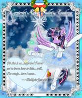 The Mistletoe card06 -TwilightSparkle by AVCHonline