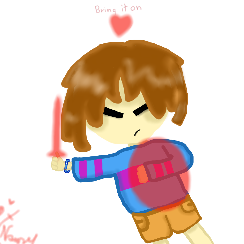 Glitchtale Frisk-Battle by SansSkeletonHUN