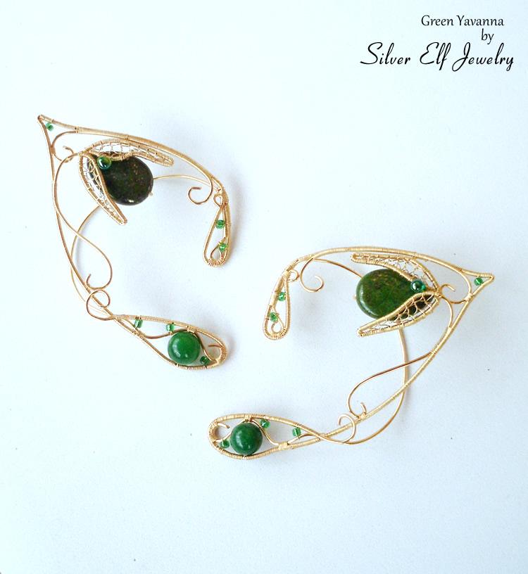 Green Yavanna Elf Ears by Lyriel-MoonShadow