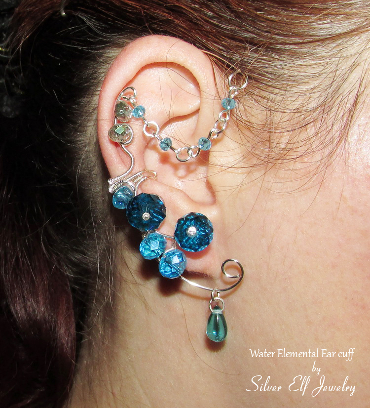 Water Elemental ear cuff by Lyriel-MoonShadow