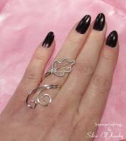 Telperion Leaf Ring by Lyriel-MoonShadow