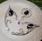 Violet Lake necklace and elf ears