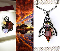 Elven Sunset jewelry set by Lyriel-MoonShadow