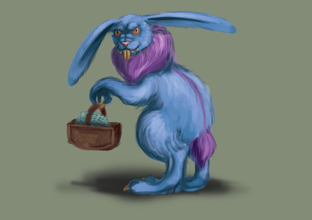 Day 4 - Easter Werebunny by daeris-art