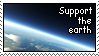 Support the Earth Stamp by luneves