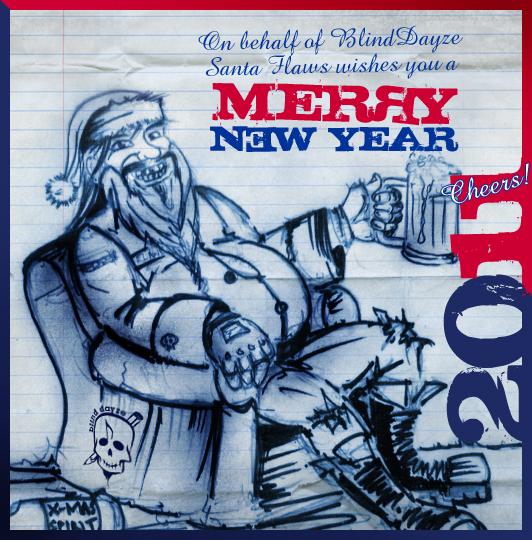 Santa Flaws greetings by blinddayze