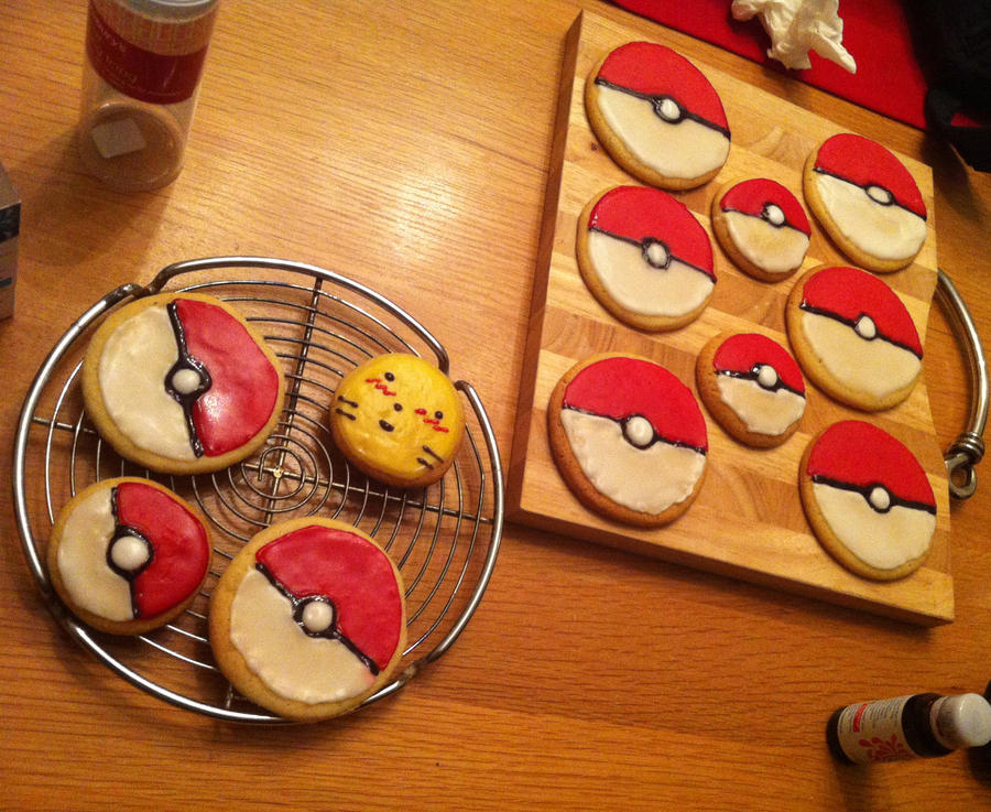 Pokemon Cookies by SoulHeilo