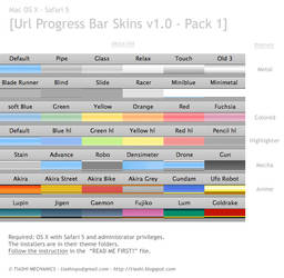 Safari 5 Progress Bar Skins by tiashi