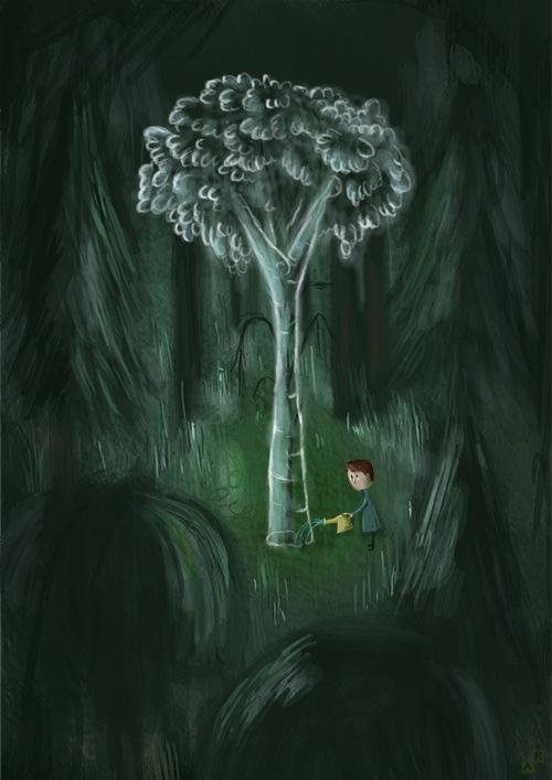 Ghost Tree by Aaron-Randy
