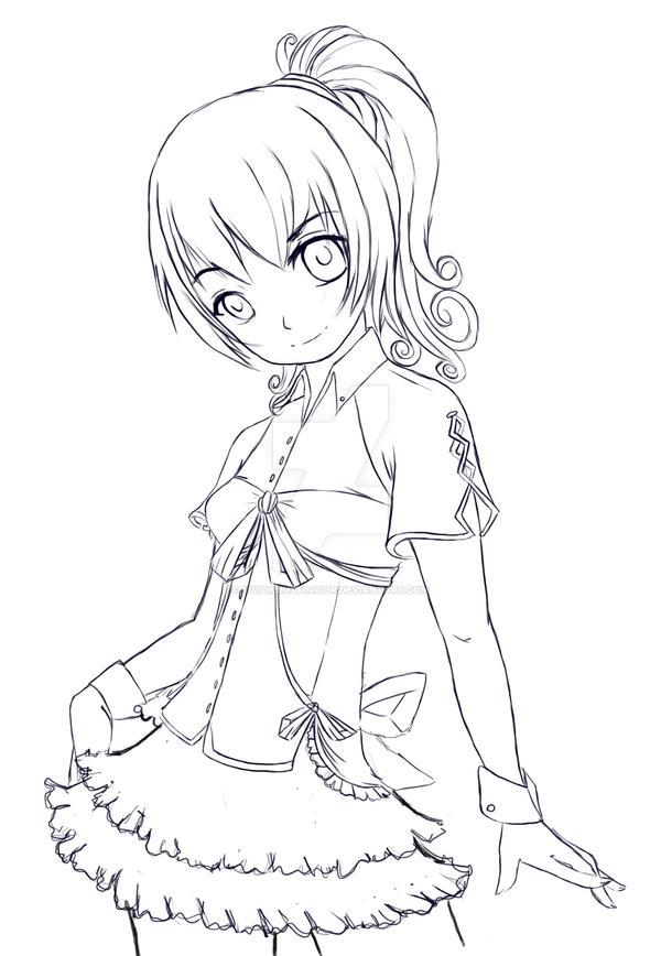 Cute anime Girl by VividIllustrator on DeviantArt