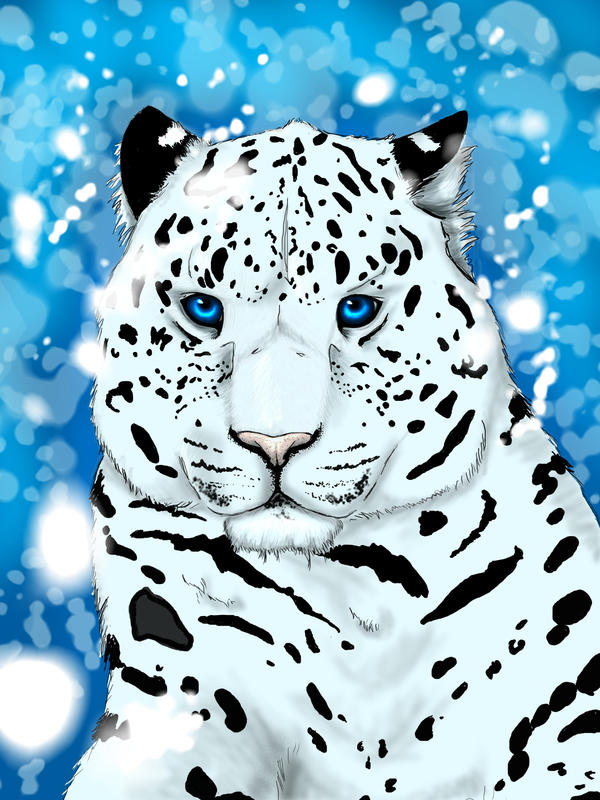 Icy Leopard WIP by EmbryH