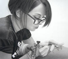 Apprentice....... Pencil and charcoal on paper