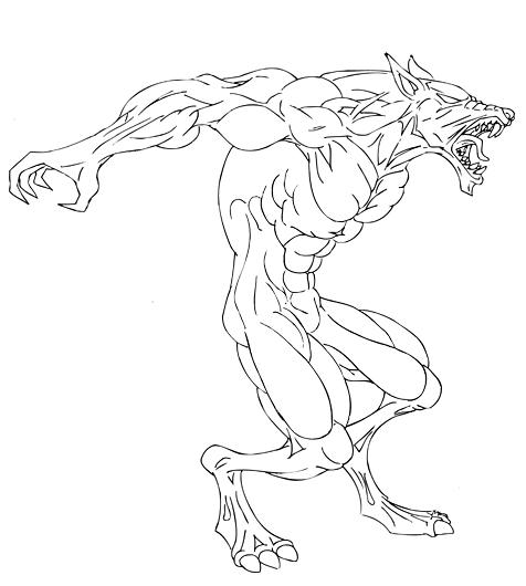 easy drawings of werewolves - photo #29