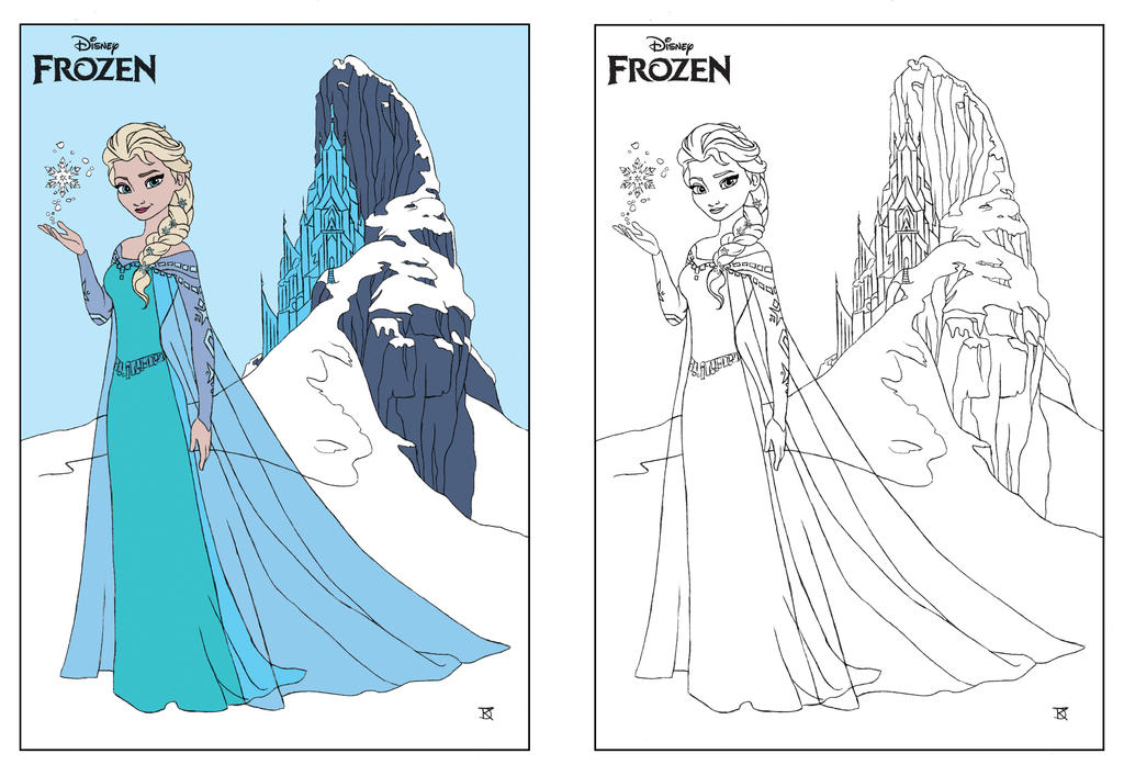 Disney Frozen ELSA coloring page by Dvythmsky