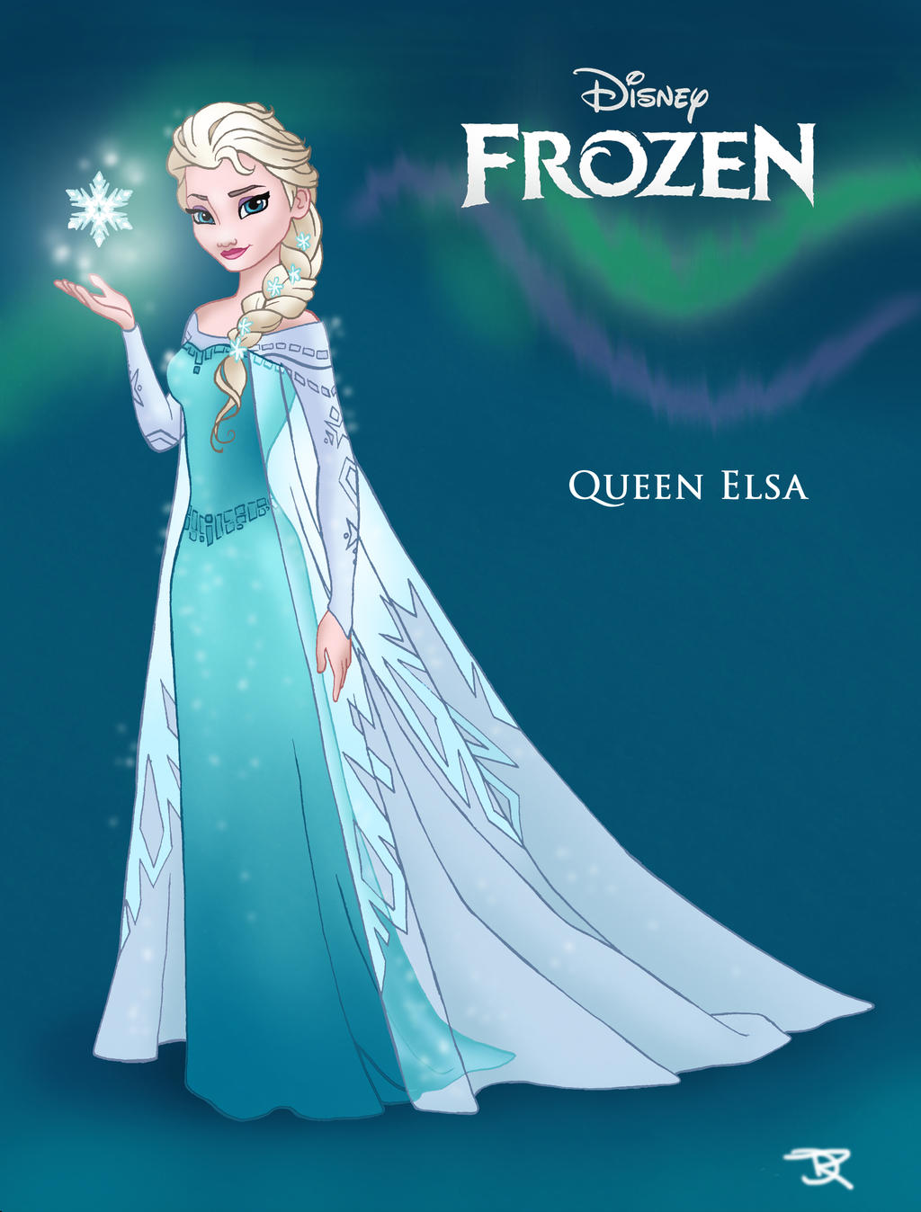 Queen Elsa Coloring Page Queen elsa by dvythmsky