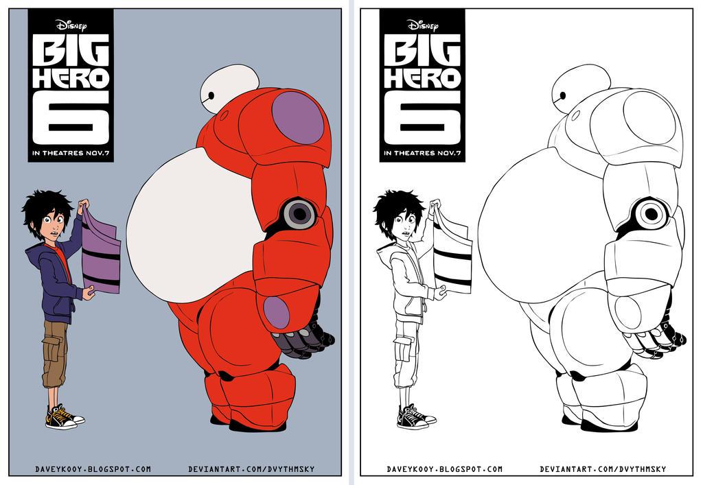 Big Hero 6 Coloring Page By Dvythmsky On DeviantArt