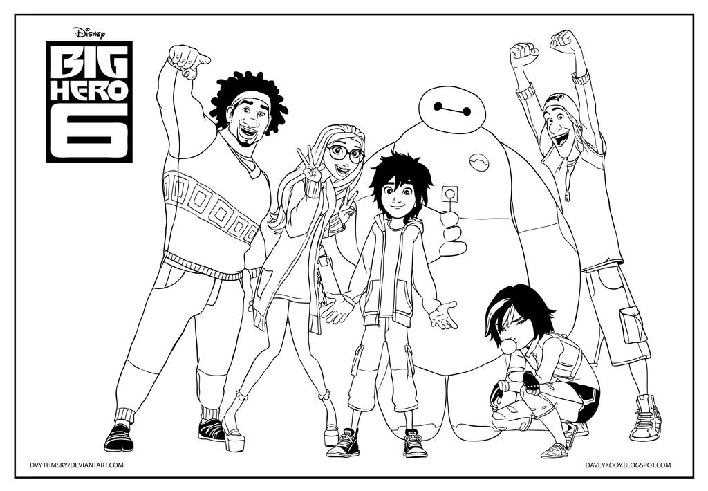 Big Hero 6 Colouring In Sheets : Big hero coloring page by dvythmsky on deviantart