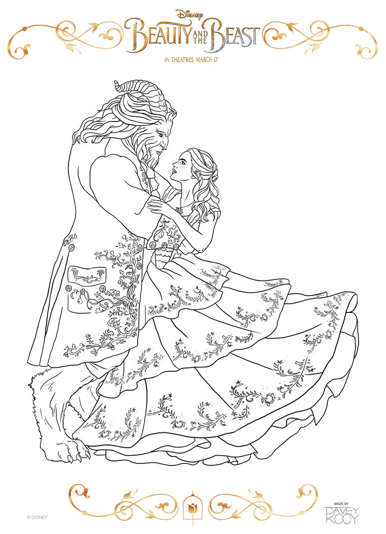 new beauty and the beast coloring pages - beauty and the beast coloring page by dvythmsky on deviantart