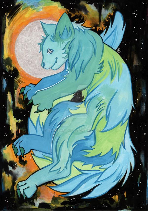 Galaxy Cat by skybearuk