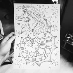 Mermay 2017: Sea Horse by skybearuk