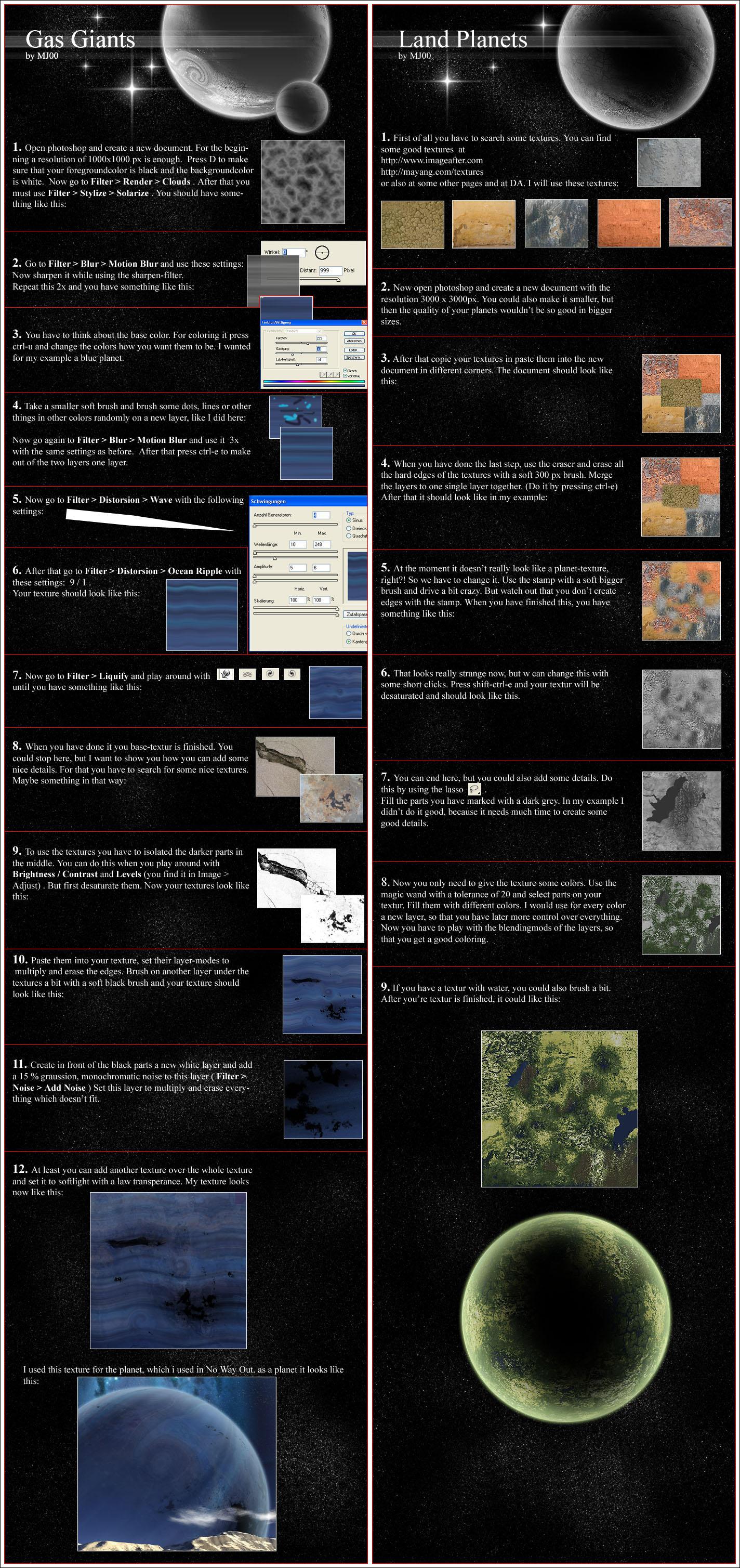 GasGiant + Landplanet Tutorial by MJ00