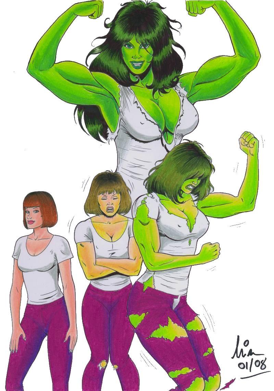 Manic's Jen - Savage She-Hulk by IslandofDelos