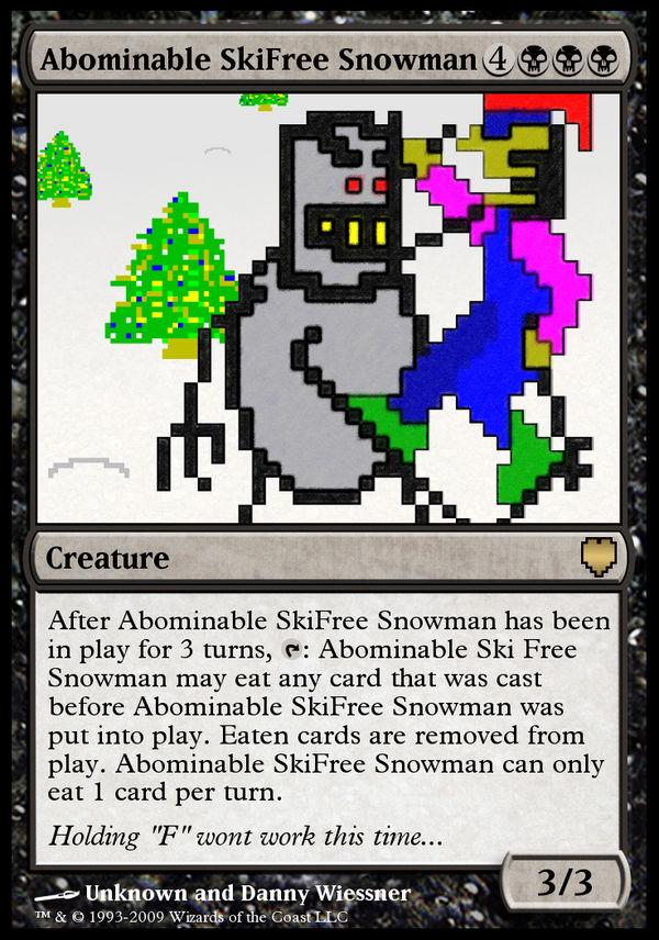 Abominable SkiFree Snowman