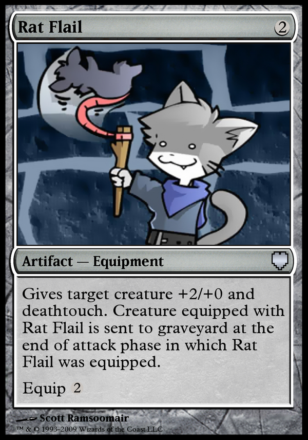 Rat flail by tuanews on deviantart for Parody magic cards