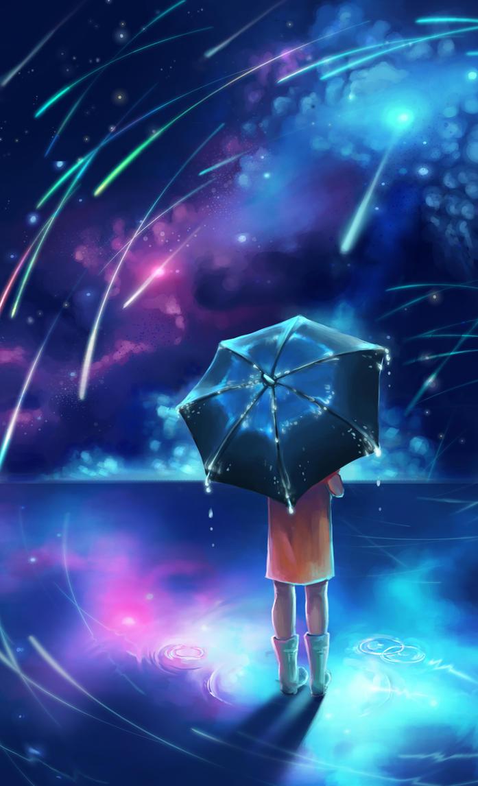 Meteor Shower by Alluis