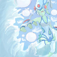 Ranamon Water Diva  (forHotofthesketchbook) by Imago-IC