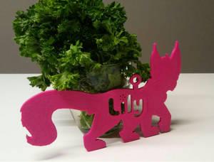 Lily - 3D fursuit badge