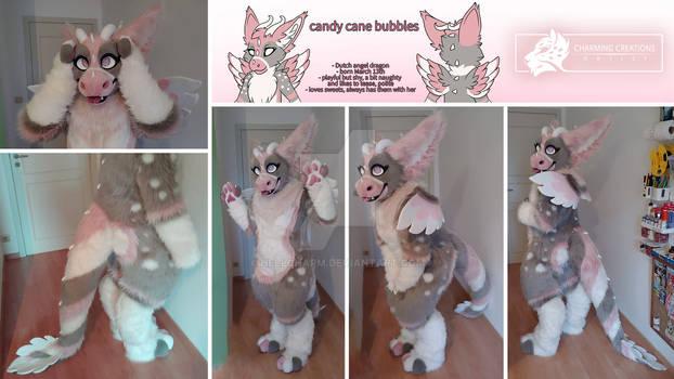 Candy Cane Bubbles - DAD digitigrade fullsuit