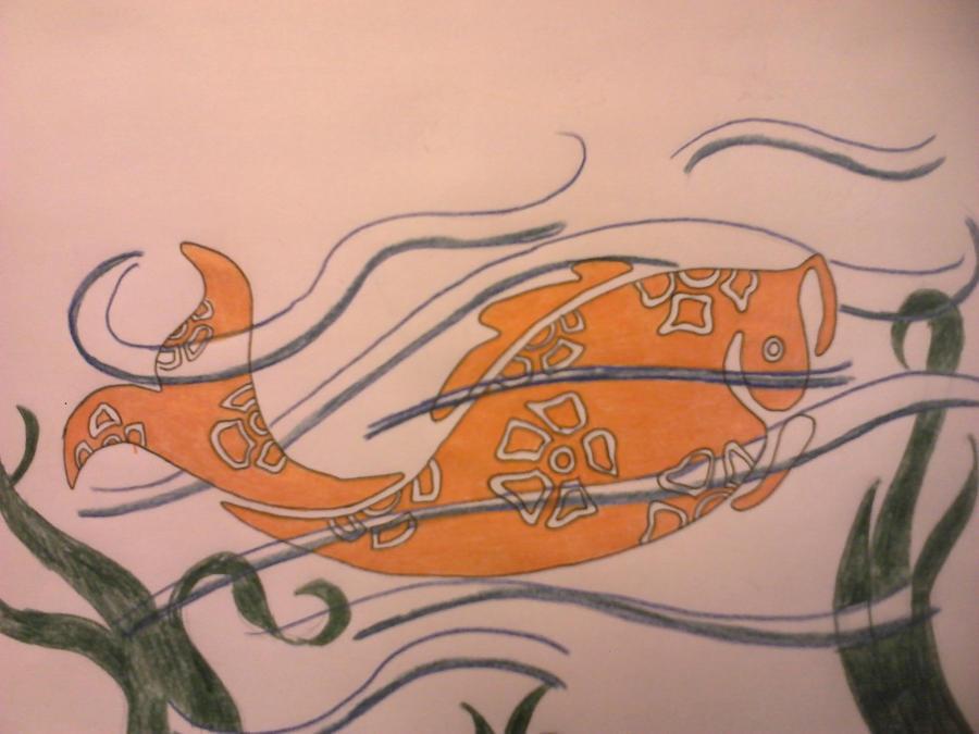 Koi Fish Tattoo Colored By Firestarrage On Deviantart