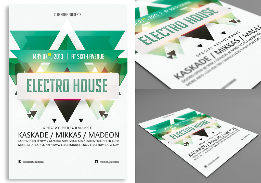 Electro House FlyerPoster by rizign on DeviantArt – Electro Flyer