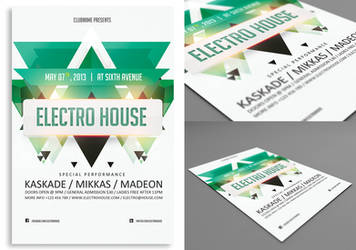 Electro House Flyer/Poster by rizign