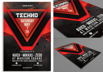 Techno Flyer by rizign