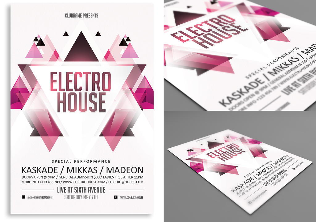 Electro House Flyer by rizign on DeviantArt
