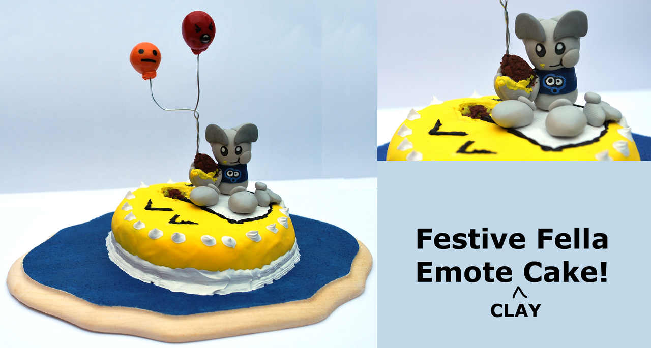 Festive Fella Emote Cake by CrowMaiden