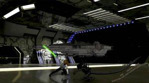 Quantum: Jedi vs Alien by Lady-Quantum
