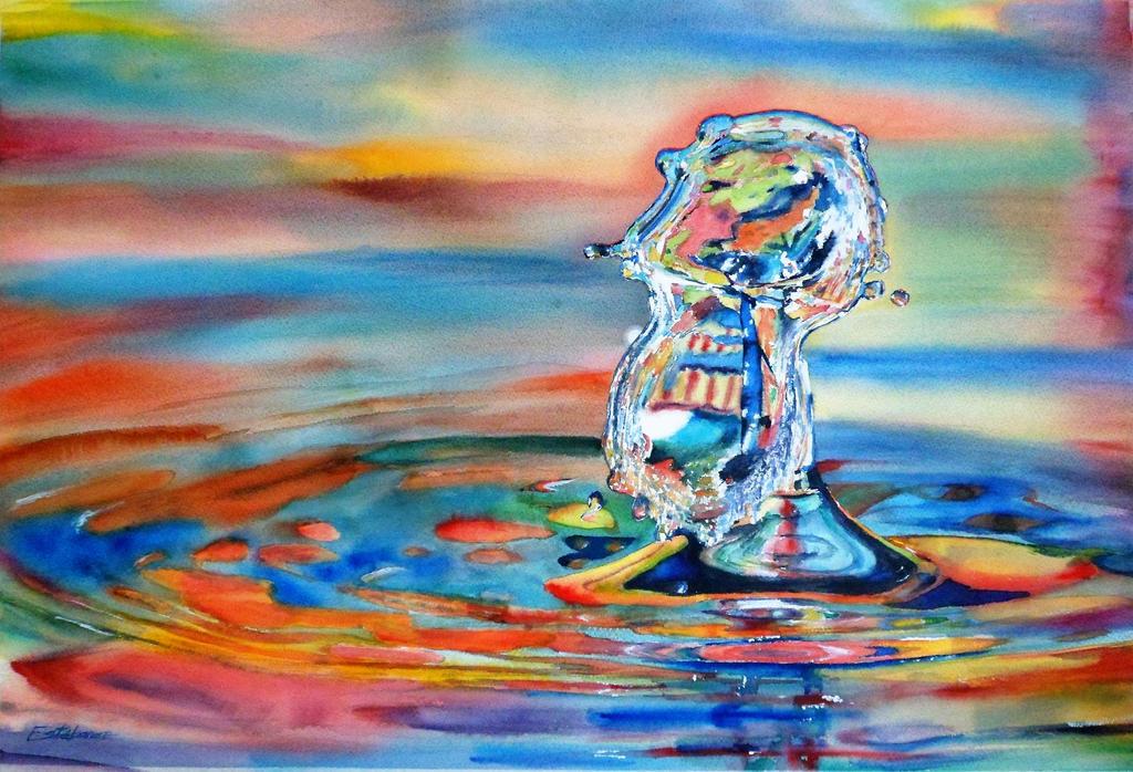 Watercolor Drop #9 by DEstebanez