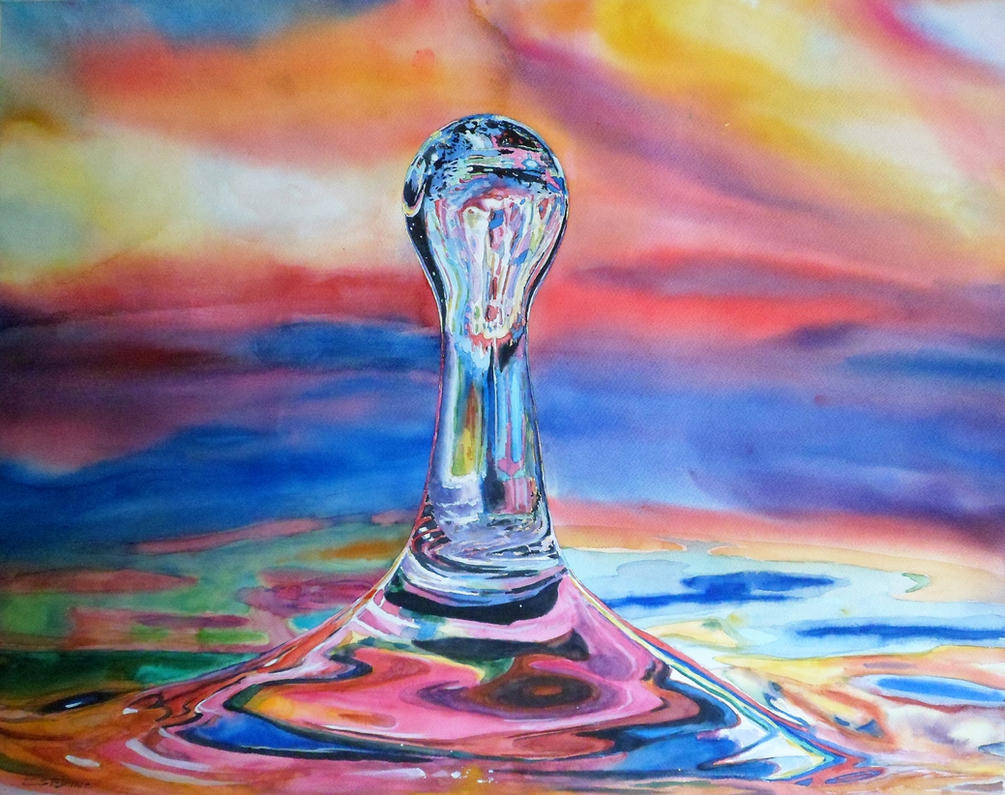 Watercolor Drop #11 by DEstebanez