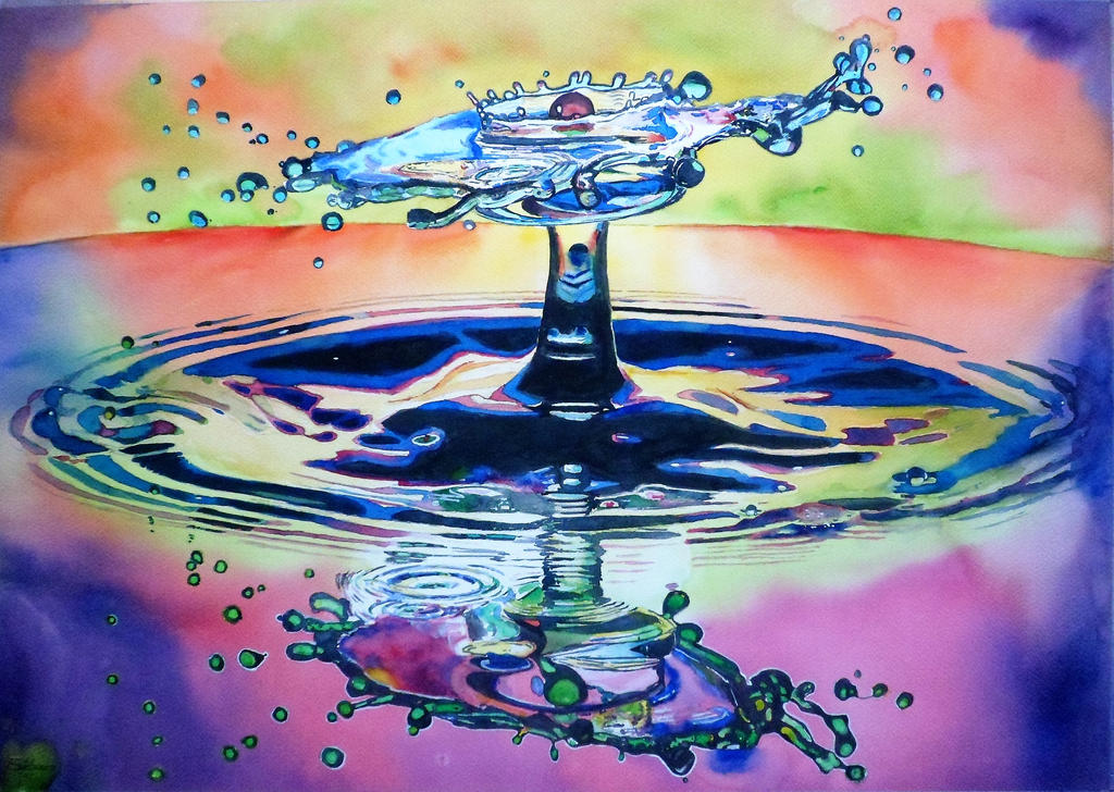 Watercolor Drop #8 by DEstebanez