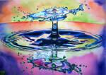 Watercolor Drop #8