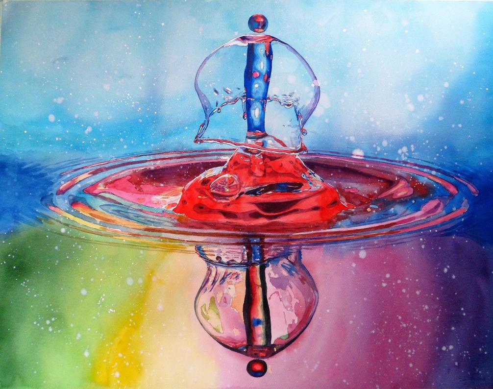 Watercolor Drop #12 by DEstebanez