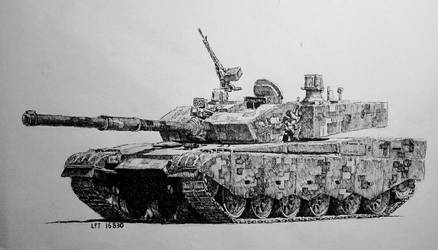 Type 99A MBT (Black Pen)