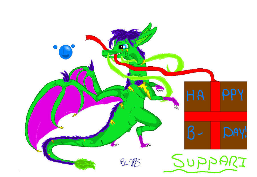 Happy belated b-day suppari by dragonneGlacia