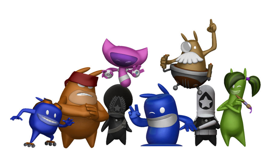 de Blob 2 Characters by shalonpalmer