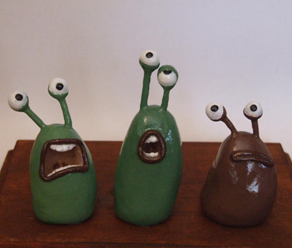 flushed away slugs painted by shalonpalmer on deviantart
