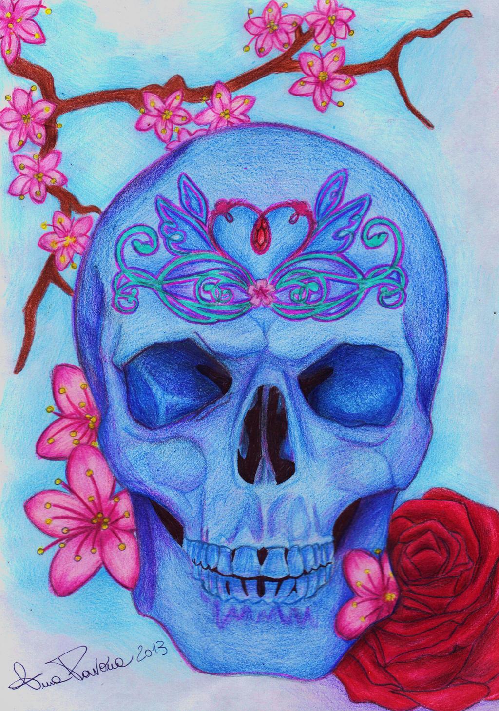 Floreal Skull Tattoo Style