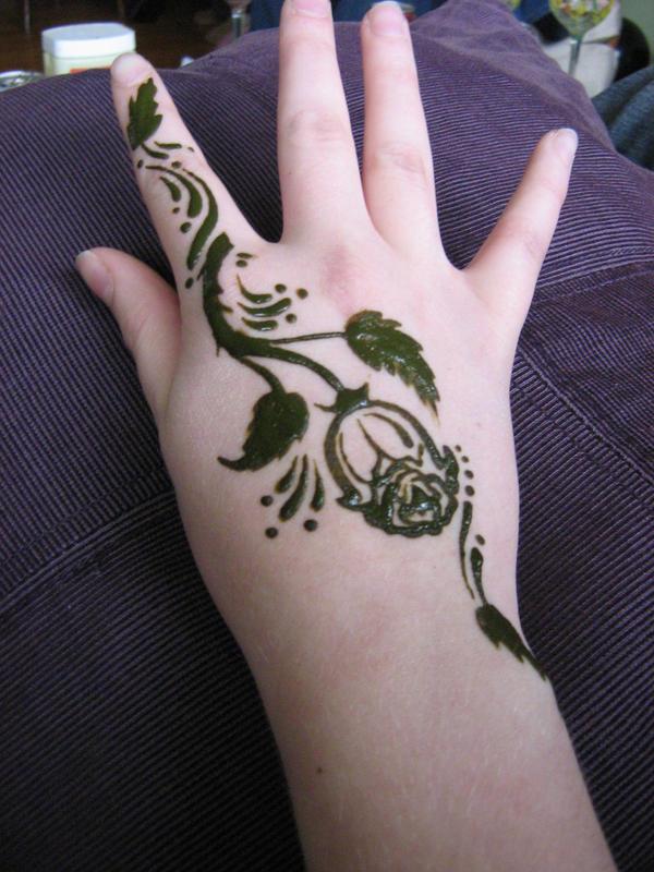 Rose Flower Henna Tattoo Stencil Temporary Pattern Body ... |Realistic Rose Tattoos Henna Designs
